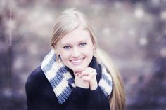 Senior girl snow picture