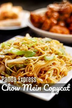 Panda Express Chow Mein recipe tastes exactly like the restaurant's signature side dish. Make a healthier version of Panda at home for a fraction of the price! #asian #copycatrecipes #sidedishes #vegetarian #favfamilyrecipes