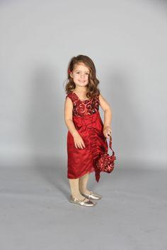 Isadora dress - Isadora dress in silk & taffeta with poppet bag.