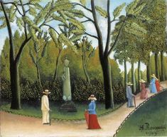 Artwork by Henri Rousseau, Jardin du Luxembourg, Made of Oil on canvas