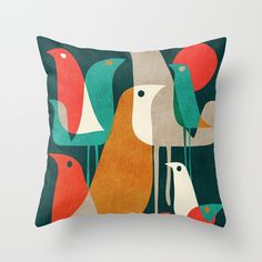 Flock of Birds by Budi Satria Kwan as a high quality Throw Pillow. Free Worldwide Shipping available at Society6.com from 11/26/14 thru 12/14/14. Just one of millions of products available.