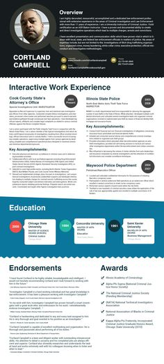 I will make an infographic from your resume Infographic resume - law enforcement resumes
