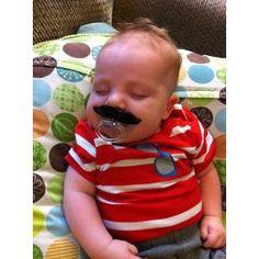 Mustache Pacifier - funny gift idea