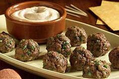 Meatballs with Chipotle Dipping Sauce