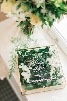 We can't get over how gorgeous and lush these invites are! | Photography By: Snapful Photography | WedLuxe Magazine | #WedLuxe #Wedding #luxury #weddinginspiration #luxurywedding #weddinginvites #greenweddinginvites