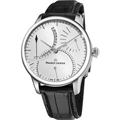 Maurice Lacroix Men's MP6508-SS001130 MasterPiece Black Leather Strap Watch