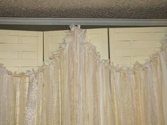 Tattered Fabric Wedding Garland Banner Shabby Chic by packratdiva, $160.00