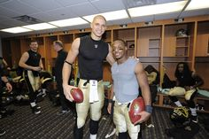 TE Jimmy Graham and RB Darren Sproles    Love my little nugget!