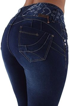 Plus/Junior Size Butt Lift Levanta Cola Mid Waist Fashion Skinny Denim Jeans Cute Jeans, Sexy Jeans, Denim Skinny Jeans, Denim Fashion, Fashion Pants, Flannel Lined Jeans, Girls Jeans, Ladies Jeans, Colored Jeans