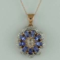 Tanzanite 1.33 Ct Pendant 10K Rose Gold Awesome Tanzanite Gemstone Top Jewelry #SGL #Pendant