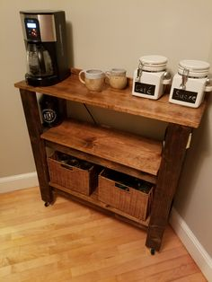 Simple Coffee Bar/Cart (Local Pickup Only, Amesbury MA) by MalmgrenFurniture on Etsy