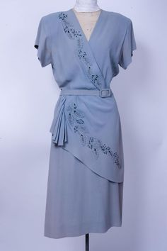 Embellished blue dress From the collection of the Western Costume Company, in Los Angeles, California