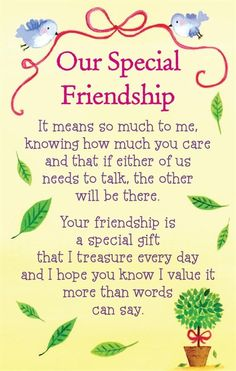 Our Special Friendship friends friendship quotes teddy bear friend quote thinking of you friend greeting friend poem friends and family quotes i love my friends