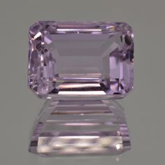 Brilliant Color, Splendid Pink Shah Kunzite. Great Cut and Shape. Emerald Cut. 23.75 ct. Large Size, Perfect! Inclusions visible only under the lens.