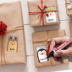 Pegatinas: Kit etiquetas Cartas de Navidad Ideas Para, Diy Ideas, Christmas Letters, Xmas, Gift Wrapping, Stickers, Biology, Creative, Gifts