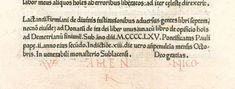 Colophon from Sweynheym & Pannartz's Cicero, 29 October 1465. Image courtesy of Die Bayerische Staatsbibliothek (BSB), Munich.