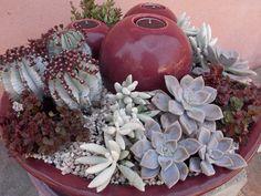 succulent candle bowl