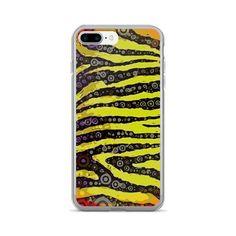 Neon Yellow Zebra Print iPhone 7/7 Plus Case