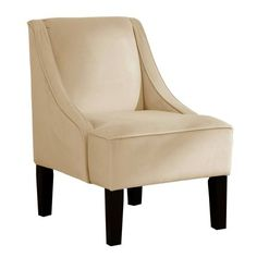 72-1VBKWT Skyline Furniture Swoop Arm Chair