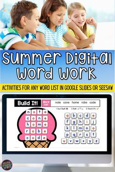 Missing your hands-on word work in your now virtual classroom? This digital word work set includes interactive word work templates for any word list with moveable letter tiles. Use them again and again with any set of spelling words or high-frequency words. Just click to type in your own list! These fun activities are ideal for both distance learning and everyday classroom use. Virtual first grade fun! Word Work Games, Word Work Activities, Teaching First Grade, Teaching Kindergarten, Digital Word, High Frequency Words, Spelling Words, Seesaw, Literacy Centers