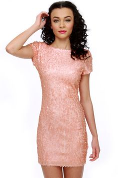 Rubber Ducky Dress - Pink Dress - Sequin Dress - $81.00