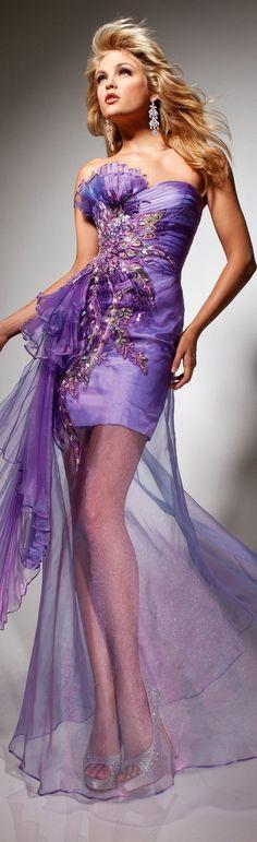 Dreamy Dress, Ꮗ/Overlay by Tony Bowls Paris 2013/2014~❥ —