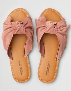 AEO Oversized Bow Slide Sandal by  American Eagle Outfitters | Slide into comfort and follow the sun in style.Slide into comfort and follow the sun in style. Shop the AEO Oversized Bow Slide Sandal and check out more at AE.com.
