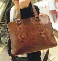 13'' LEATHER Tote Bag Men and Women LEATHER door BoutiqueHouse, $44.99