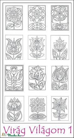 Virág Világom 1 - nyomtatható színező lapok (kedo) - Meska.hu