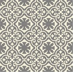 Buckland Dim Grey Recro Encaustic Tile, a creative design for both walls and… Hall Tiles, Tiled Hallway, Hallway Flooring, Bathroom Floor Tiles, Wall And Floor Tiles, Wood Grain Tile, Victorian Kitchen, Encaustic Tile, Grey Tiles