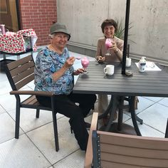 I dream, you dream, we all dream of ice cream! 🍦Resident Mary-Lou and Madeleine are enjoying their ice cream floats out on the patio at Carp Commons Retirement Village in Ottawa West 😄 #vervecares #community #icecream #goodtimes Senior Living, Carp, Ottawa, Icecream, Good Times, Retirement, Community, Patio, Madeleine