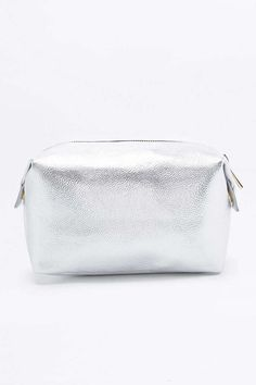 Mi-Pac Silver Make-Up Bag - Urban Outfitters