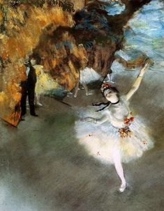 Interesting facts about Edgar Degas. Edgar Degas was recognized as one of the pioneers of the Impressionist movement. Famous Art Paintings, Renoir Paintings, Famous Artwork, Classic Paintings, French Paintings, Edgar Degas, Degas Ballerina, Ballerina Painting, Art Ancien