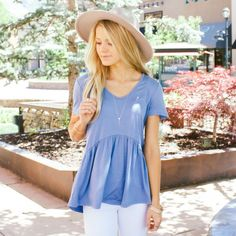 Blue Deep Ruffle Top – Called To Surf