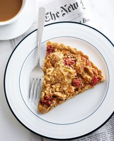 Raspberry pecan tart from Leite's Culinaria by Anna Olson