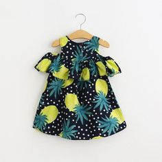 Find More Dresses Information about Everweekend 2016 Kids Girls Print Fruit… Ankara Styles For Kids, African Dresses For Kids, Dresses Kids Girl, Kids Outfits, Baby Dresses, Dress Girl, Dot Dress, Cheap Dresses, Fashion Kids