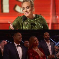 Adele made Beyoncé cry with her Grammys acceptance speech. @Adele @Beyonce  via ELLE HONG KONG MAGAZINE OFFICIAL INSTAGRAM - Fashion Campaigns  Haute Couture  Advertising  Editorial Photography  Magazine Cover Designs  Supermodels  Runway Models