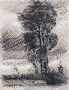 Пейзаж в грозовую погоду. Винсент Ван Гог                              Музей ван Гога, Амстердам (Van Gogh Museum, Amsterdam). 1885