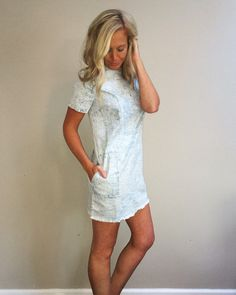 Faded for Days Jean Mini Dress