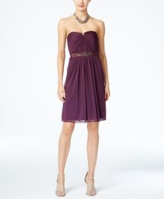 Adrianna Papell Strapless Ruched Dress