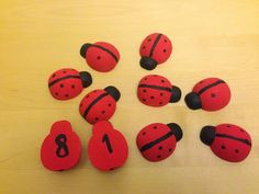 Montessori Inspired Ladybird Maths Activity #montessori #preschool #maths
