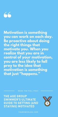 Motivation is something you can work on each day. You can be proactive about your motivation levels. How motivated you feel each day before you go to the pool is up to you. Here's how to take charge. Spin Bike Workouts, Chest Workouts, Swimming Times, Swimming Workouts, Cycling Workout, Cycling Tips, Road Cycling, Swimmer Problems, Girl Problems