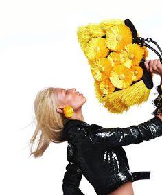 Vika Falileeva by Sebastian Faena for Blumarine Spring 2012 Campaign