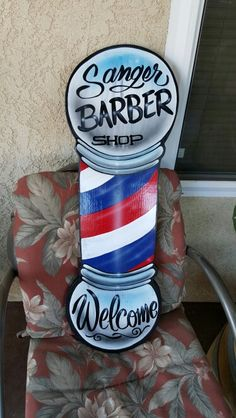 Barber shop pole, Steampunk lamp and Barber shop on Pinterest
