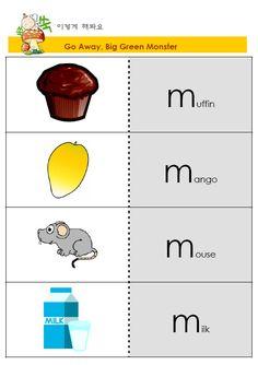 같은 알파벳으로 시작하는 단어를 외울때 순서대로 나열한 후, 옆에 시각적 자료로 그림을 주어 기억하기 쉽게 할 수 있다.
