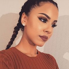 Braids.... Lashes.... Brows... Liner. Is all a woman needs