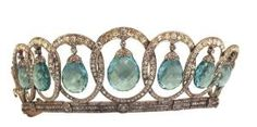 The aquamarine Tiara of Queen Victoria Eugenie. by therese
