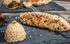 Saumon sésame ou plutôt saumon pané au sésame! – Cuisine moi un mouton Healthy Recipes, Healthy Food, Chicken, Meat, Vegetables, Cooking, Inspiration, Sheep, Kitchen Modern