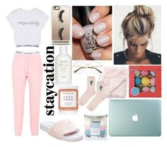 Rest Up: Staycation by emily5302 on Polyvore featuring polyvore, fashion, style, WithChic, Vetements, Calvin Klein Underwear, Calvin Klein, Topshop, Steve Madden, Gucci, Casetify, Herbivore, Fresh, Fizz & Bubble, Jaipur, Yankee Candle, clothing and staycation