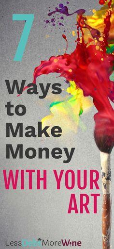 sell your art | side hustle ideas | make extra moneye